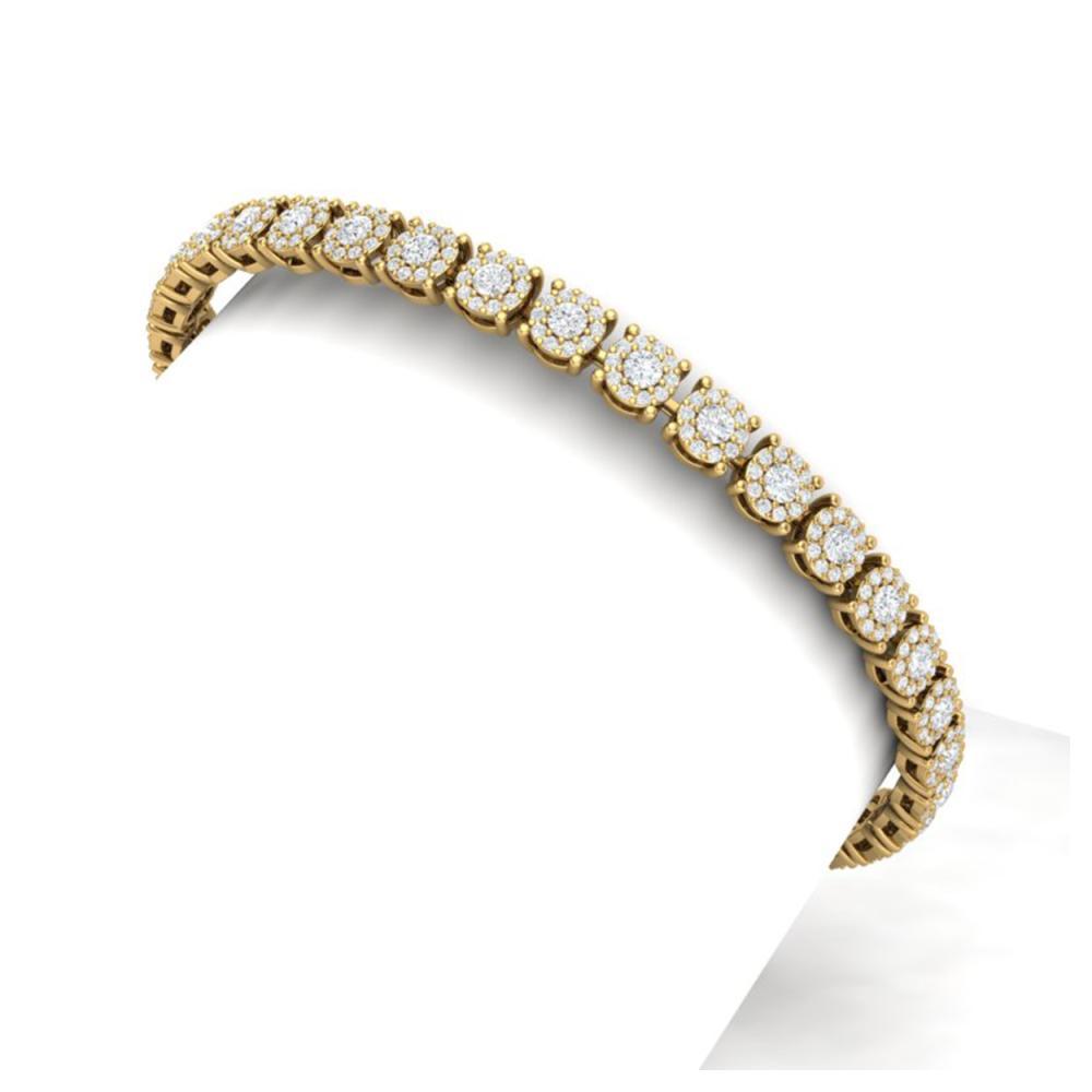 5 ctw SI/I Diamond Halo Bracelet 18K Yellow Gold - REF-360H2M - SKU:40168
