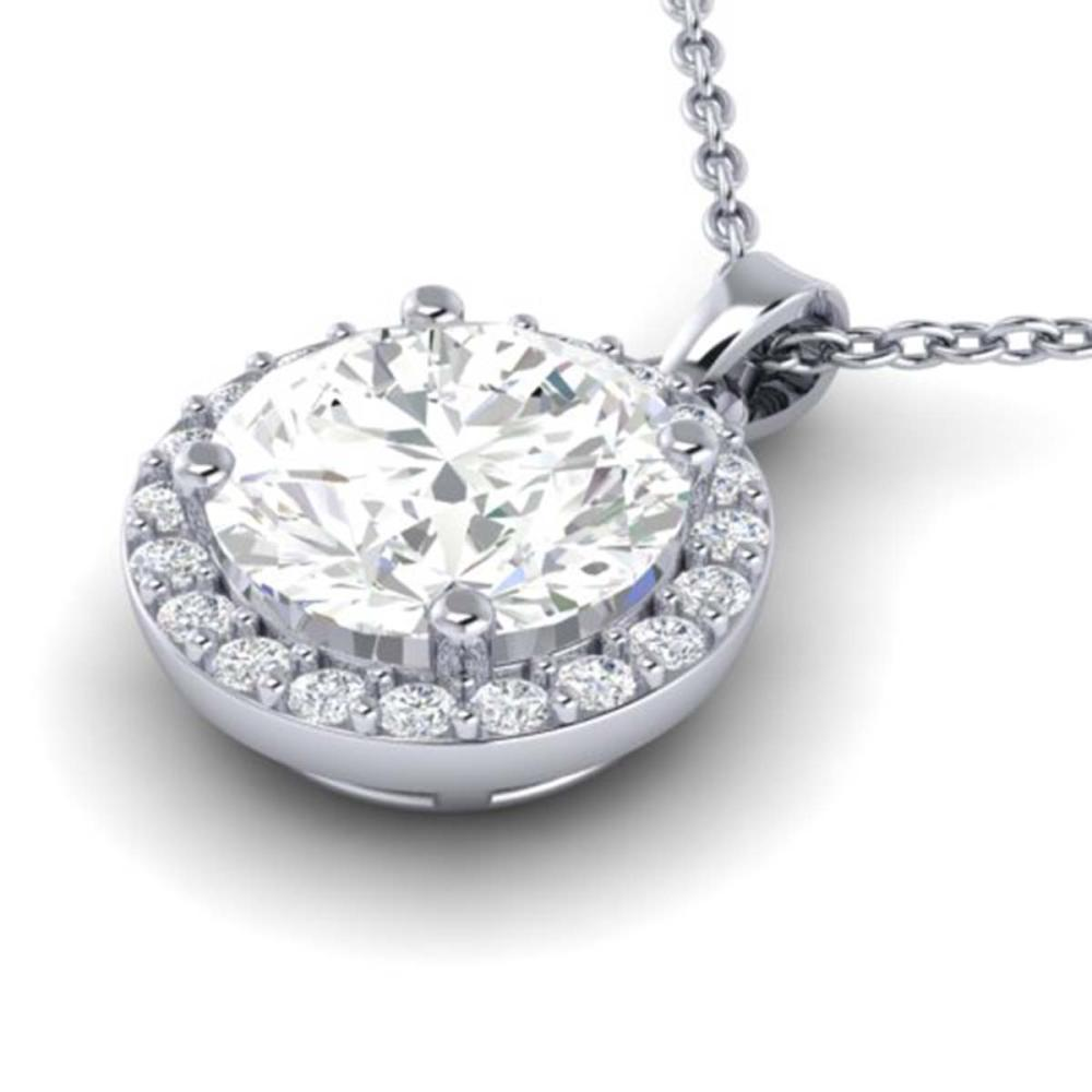 1.75 ctw VS/SI Diamond Necklace 18K White Gold - REF-525M2F - SKU:21568