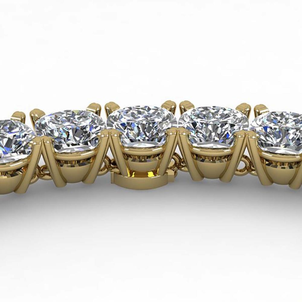 35 ctw Cushion SI Diamond Necklace 18K Yellow Gold - REF-5715M2F - SKU:32518