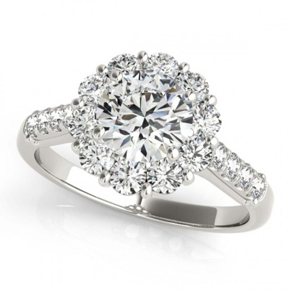 2.75 ctw VS/SI Diamond Halo Ring 18K White Gold - REF-545H3M - SKU:26290