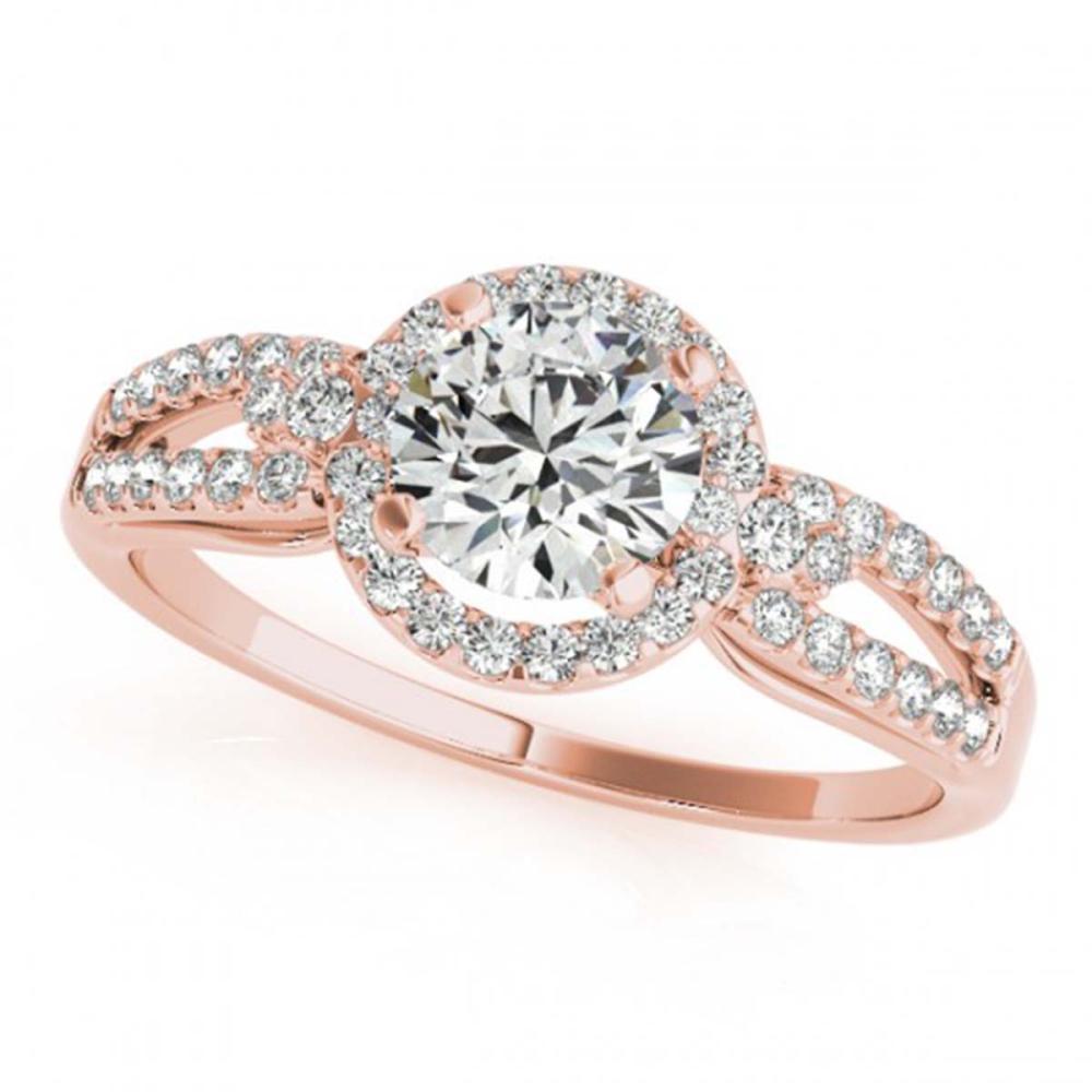 1.25 ctw VS/SI Diamond Halo Ring 18K Rose Gold - REF-275F5N - SKU:26809
