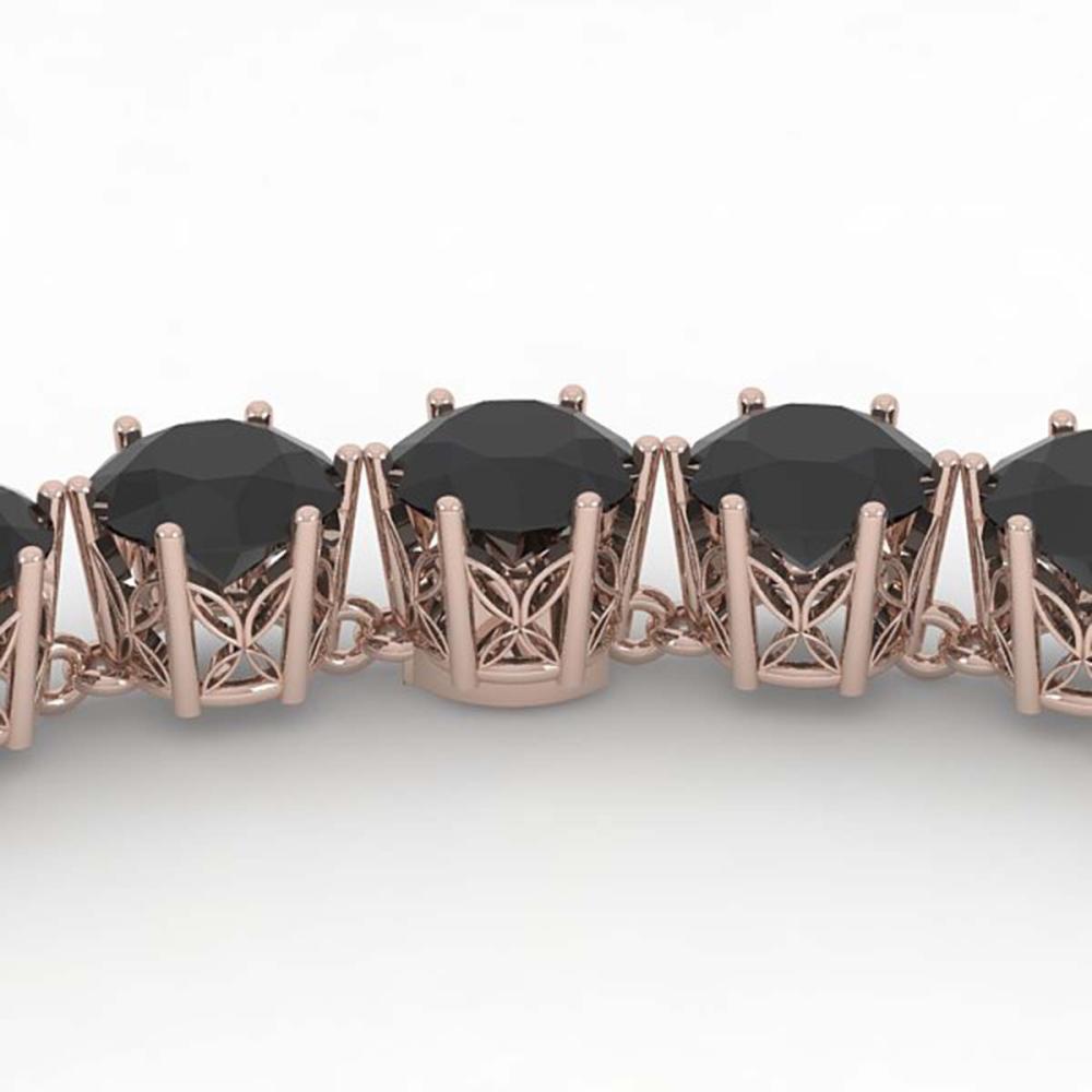 36 ctw Black VS Diamond Necklace 18K Rose Gold - REF-852A8V - SKU:35939