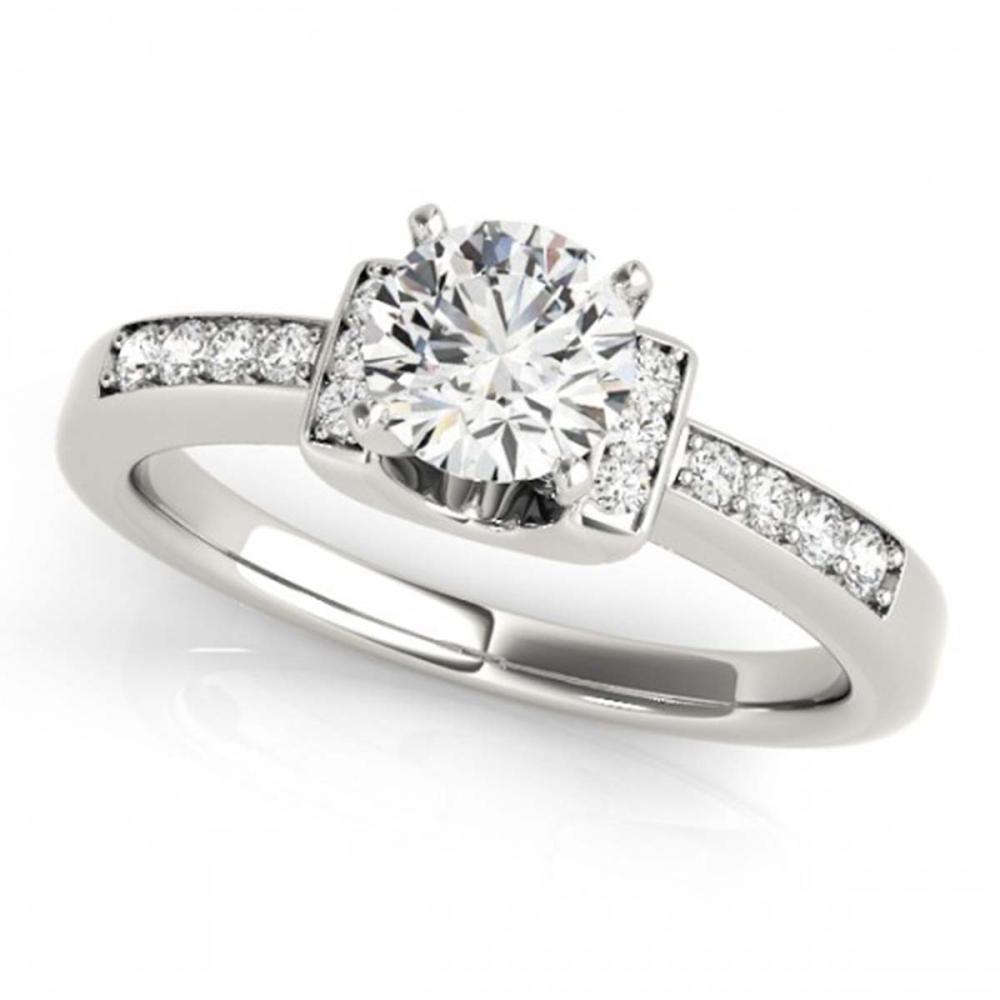 0.86 ctw VS/SI Diamond Solitaire Ring 18K White Gold - REF-144V5Y - SKU:27440
