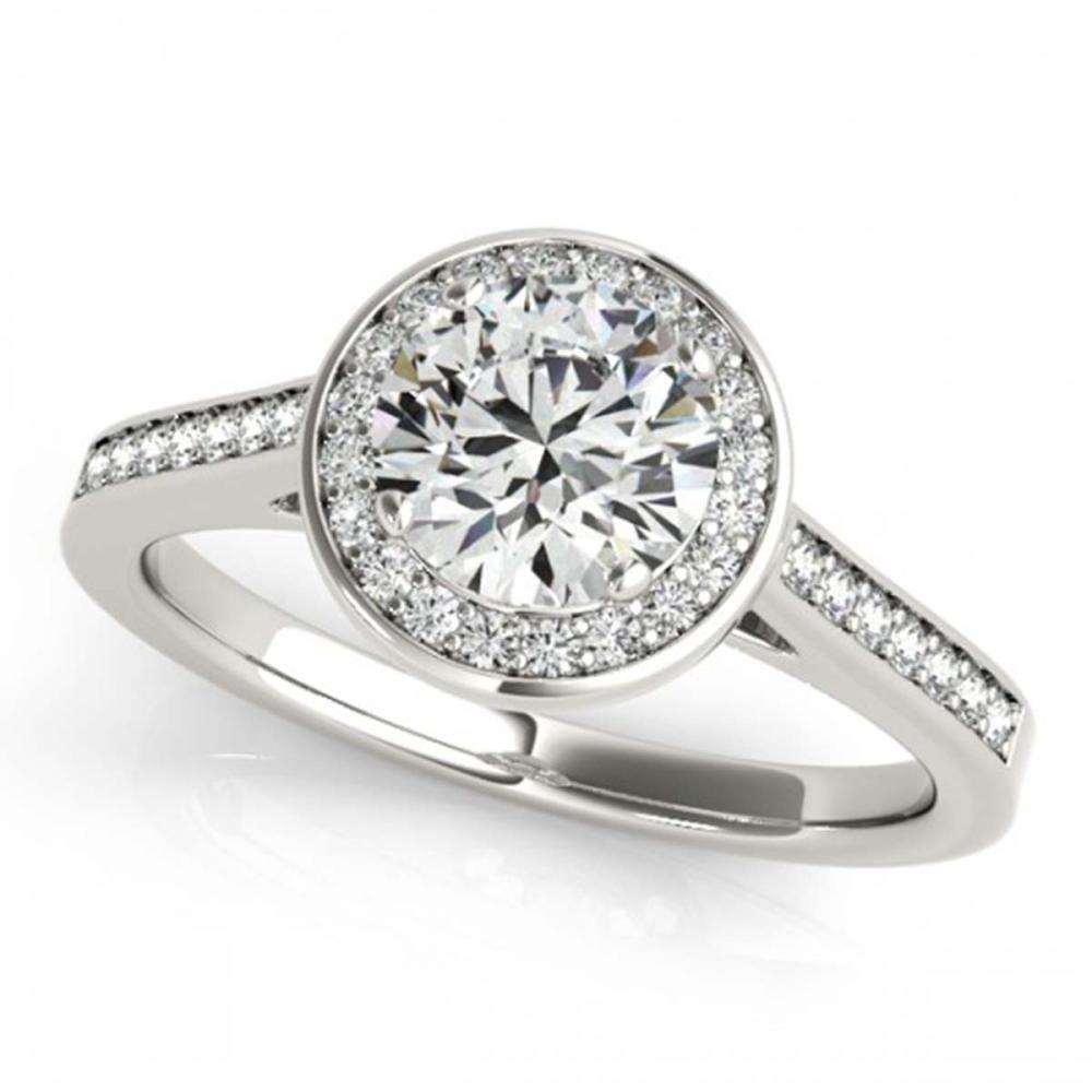 1.93 ctw VS/SI Diamond Halo Ring 18K White Gold - REF-531K8W - SKU:26362