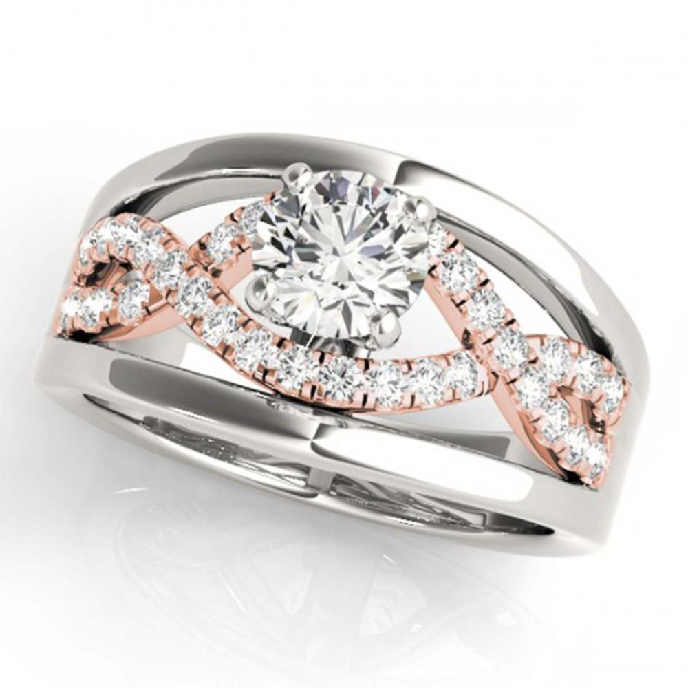 1.55 ctw VS/SI Diamond Solitaire Ring 18K White & Rose Gold - REF-402X5R - SKU:27925