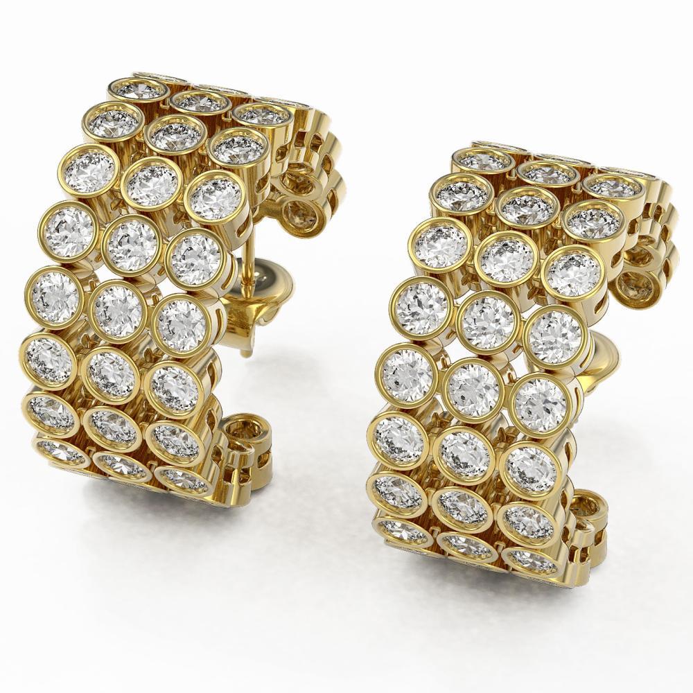 6.3 ctw Diamond Designer Earrings 18K Yellow Gold - REF-500K2Y
