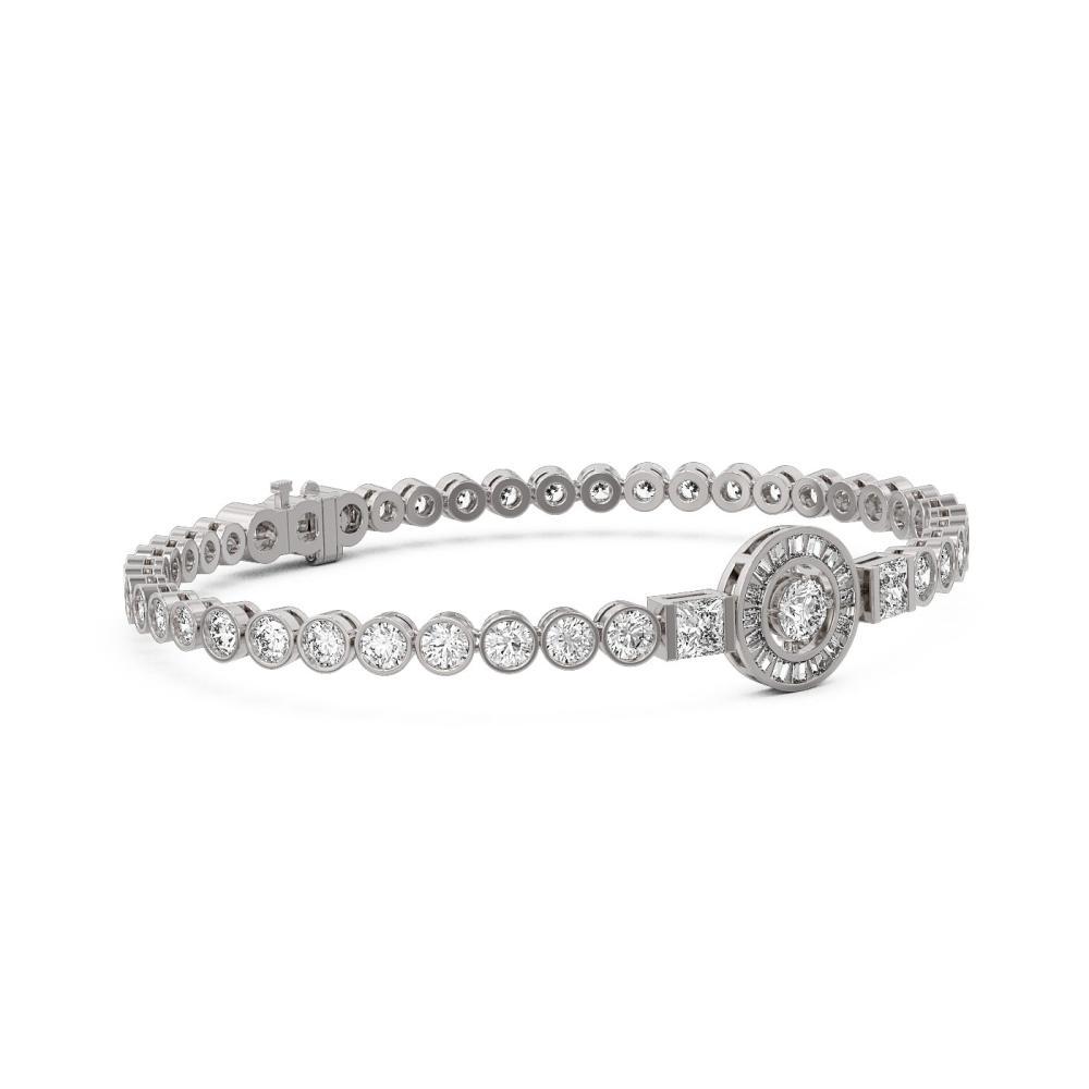 10 ctw Diamond Designer Bracelet 18K White Gold - REF-1239R3K