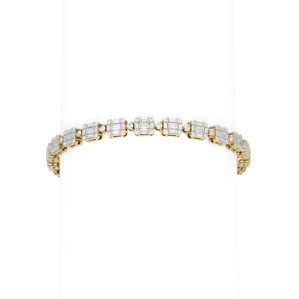 7 ctw Diamond Bracelet 18K Yellow Gold - REF-759W3H