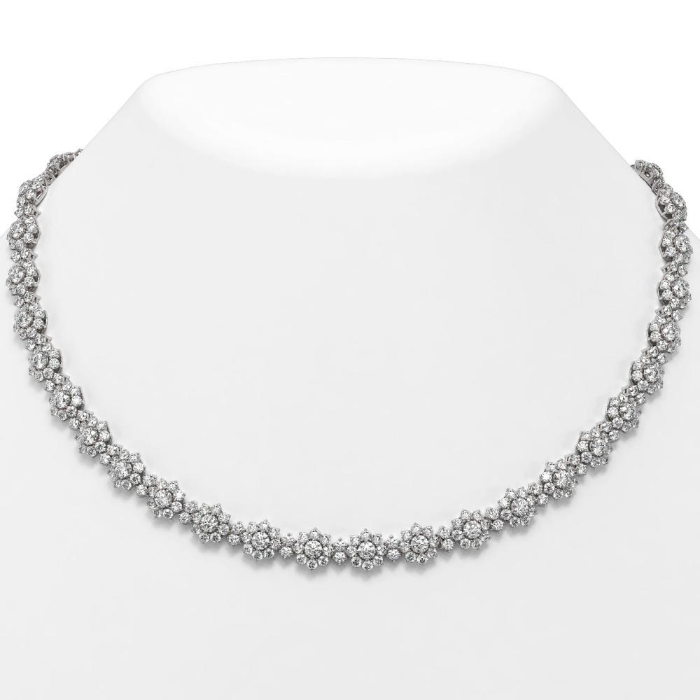 42 ctw Diamond Designer Necklace 18K White Gold - REF-2722A2N