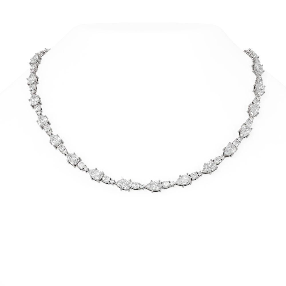 30 ctw Diamond Necklace 18K White Gold - REF-7976X4A