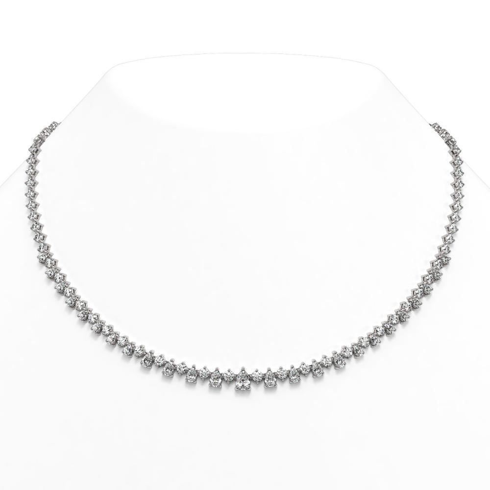 19 ctw Pear Diamond Designer Necklace 18K White Gold - REF-2612H4R