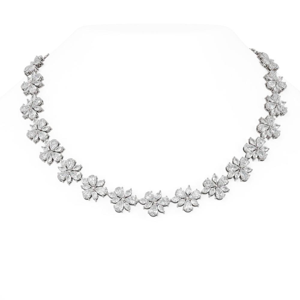 65 ctw Diamond Necklace 18K White Gold - REF-11154N2F