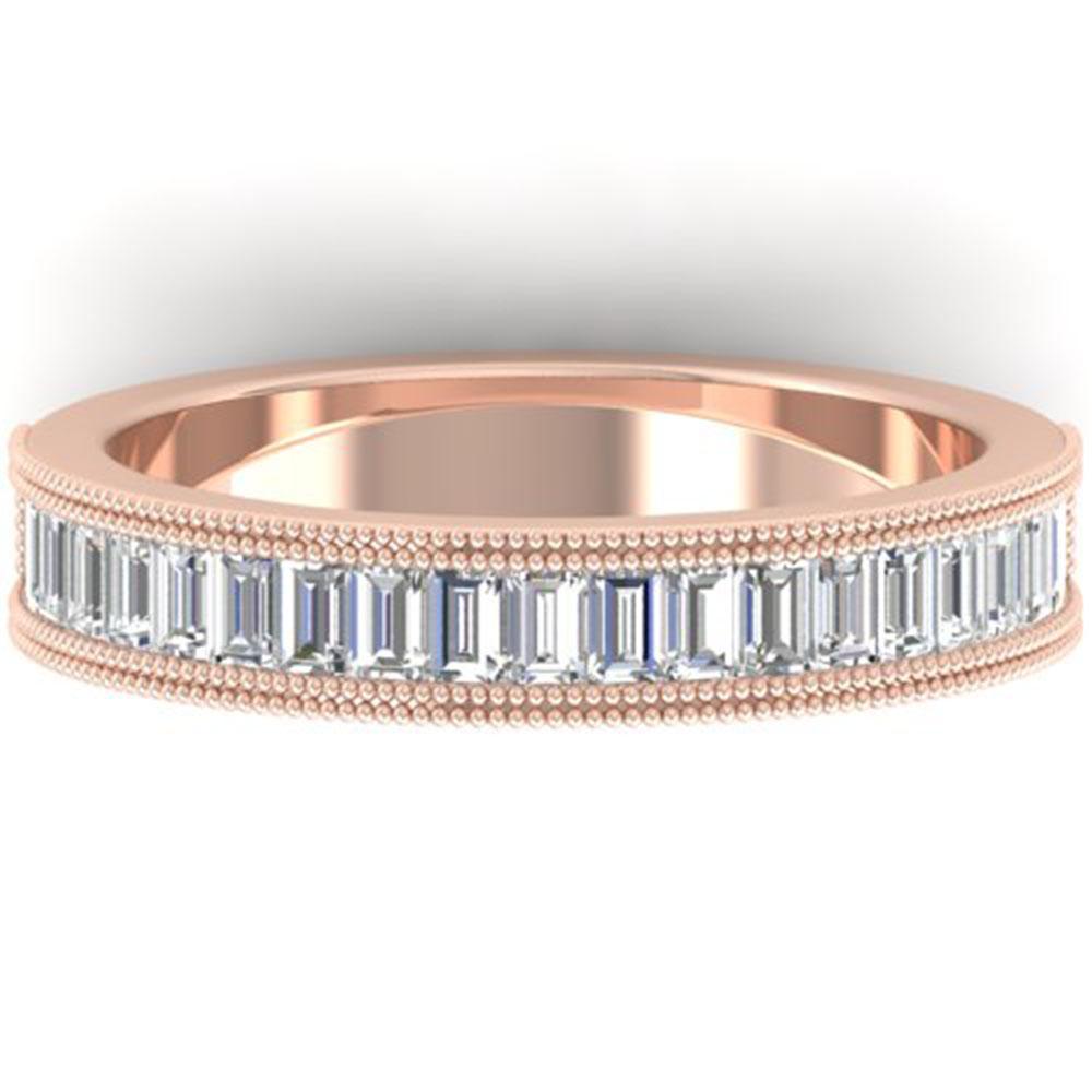 1 ctw Baguette VS/SI Diamond Art Deco Eternity Band 18k Rose Gold - REF-121G5W