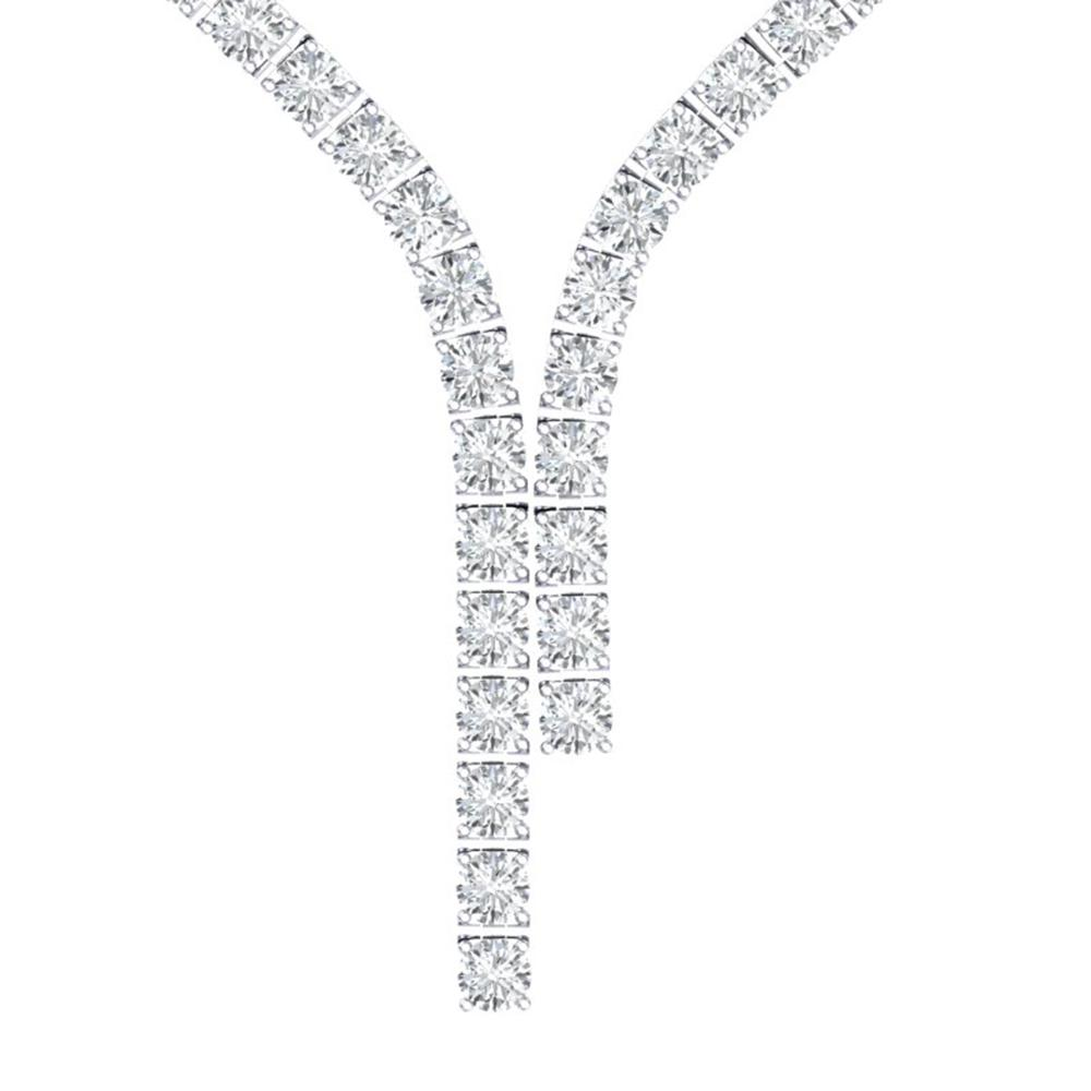 40 ctw Certified SI Diamond Necklace 18K White Gold - REF-4350F2M