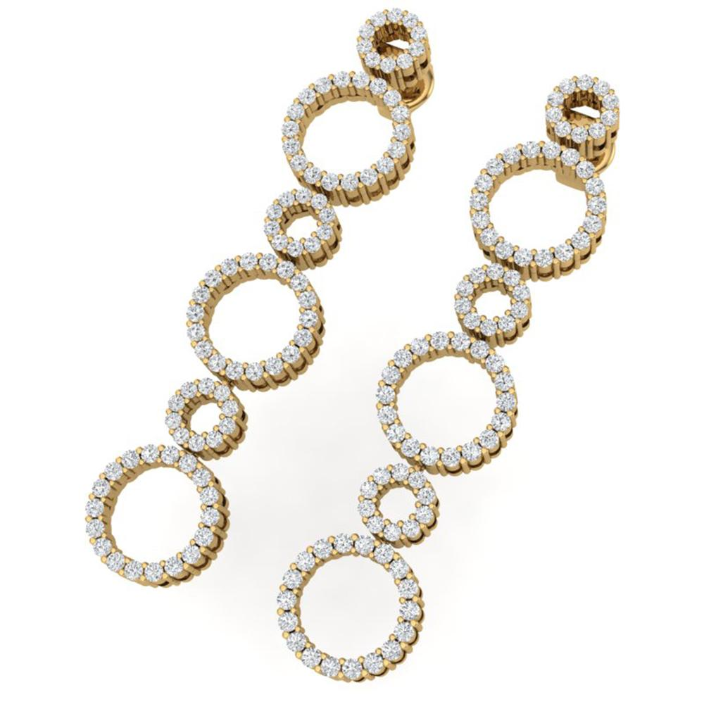 1.50 ctw Certified SI/I Diamond Halo Earrings 18K Yellow Gold - REF-139X2A