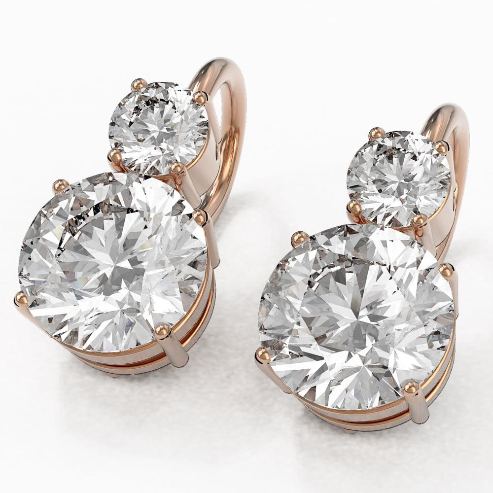 2.5 ctw Diamond Designer Earrings 18K Rose Gold - REF-598M5G