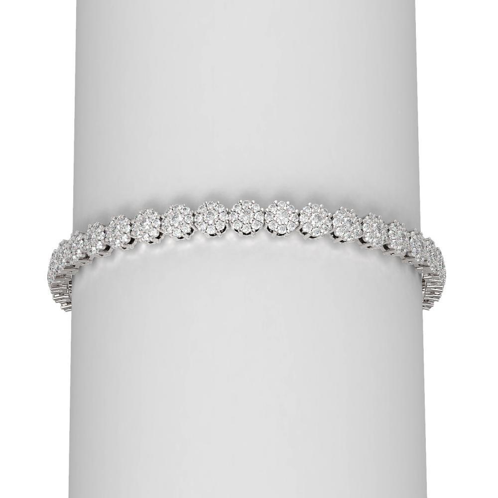 8 ctw Diamond Bracelet 18K White Gold - REF-457Y8X