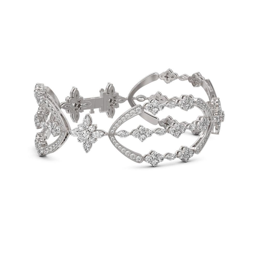 16 ctw Diamond Designer Bracelet 18K White Gold - REF-1272K2Y