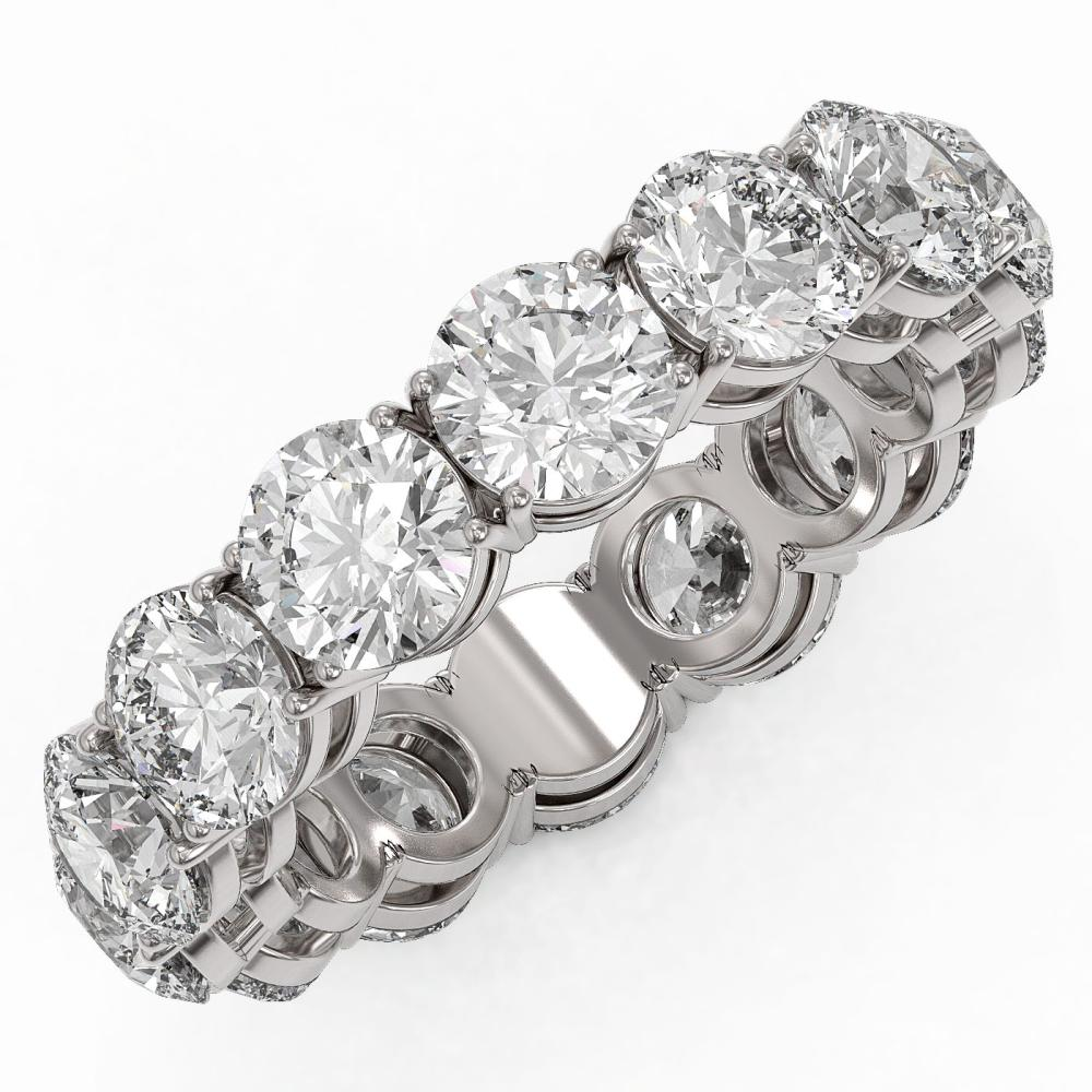 7.14 ctw Diamond Designer Eternity Ring 18K White Gold - REF-941F2M