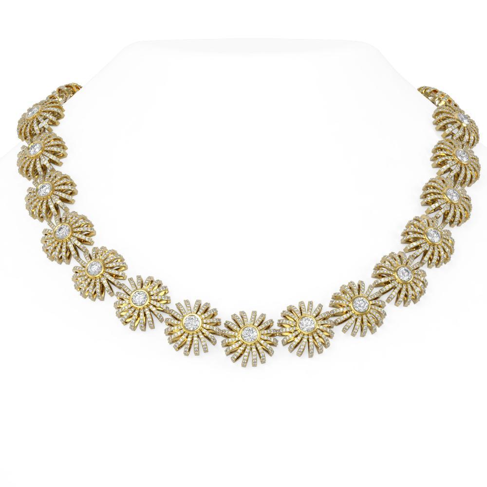 37 ctw Diamond Necklace 18K Yellow Gold - REF-4208Y2X