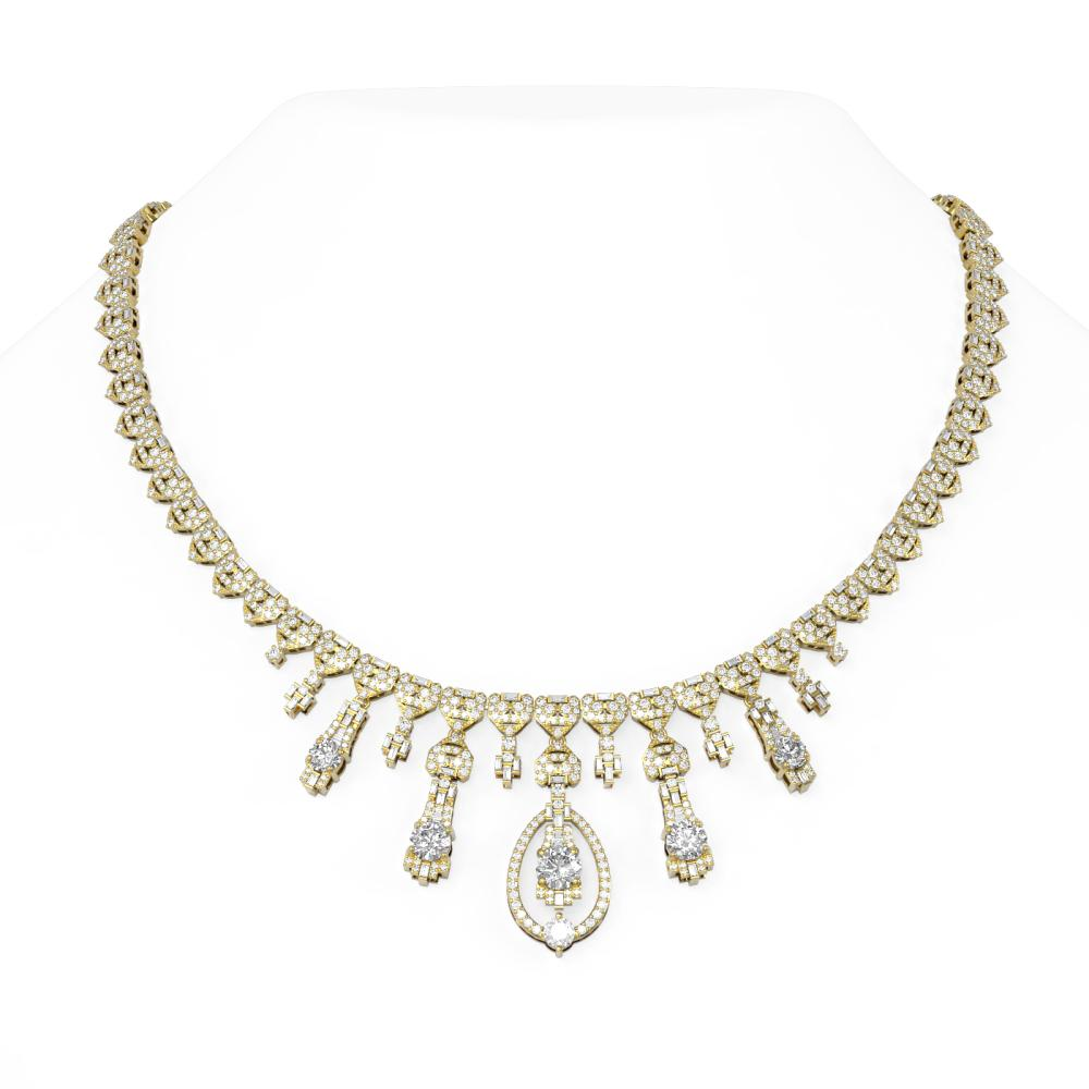 20.27 ctw Diamond Necklace 18K Yellow Gold - REF-2326F4M