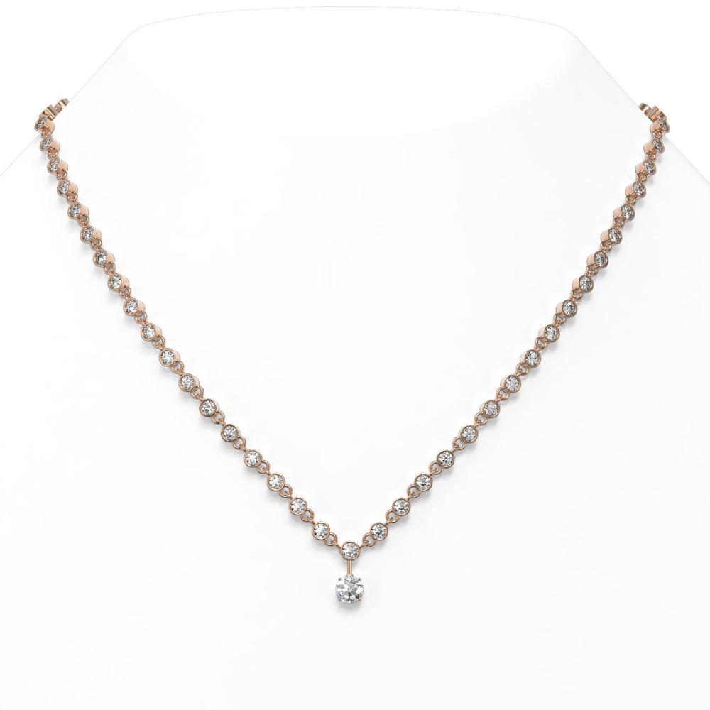 11.75 ctw Diamond Designer Necklace 18K Rose Gold - REF-921X3A