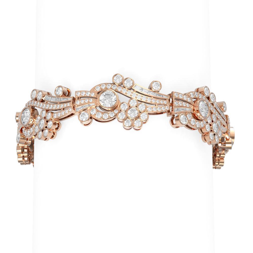 16.52 ctw Diamond Bracelet 18K Rose Gold - REF-1717N8F