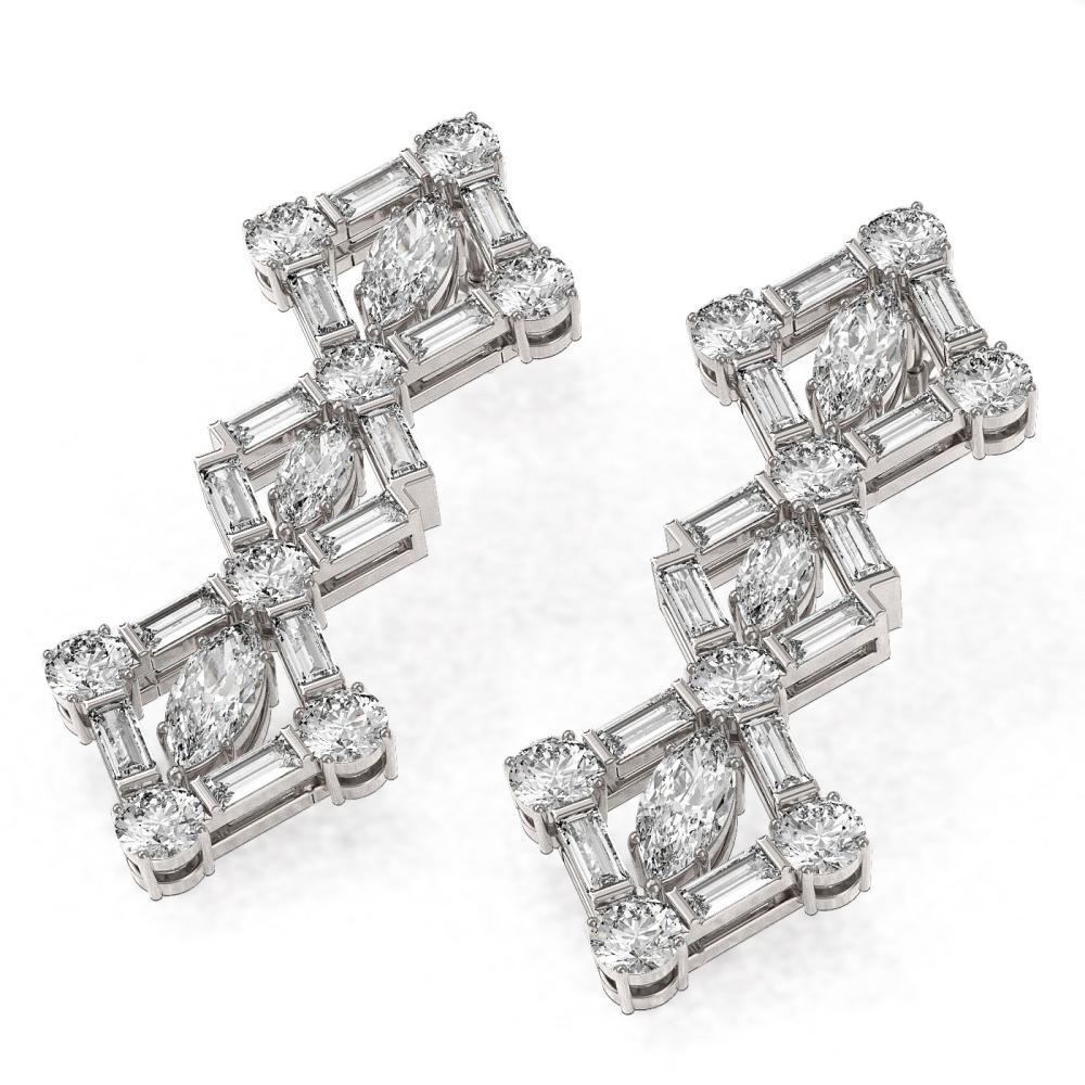 5.12 ctw Marquise Cut Diamond Designer Earrings 18K White Gold - REF-598R4K