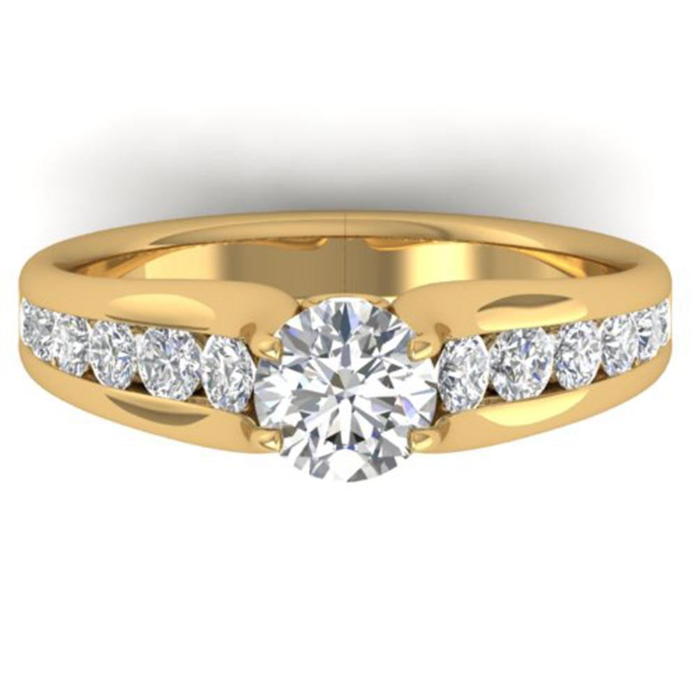 1.37 ctw Certified VS/SI Diamond Solitaire Ring 18k Yellow Gold - REF-222G8W