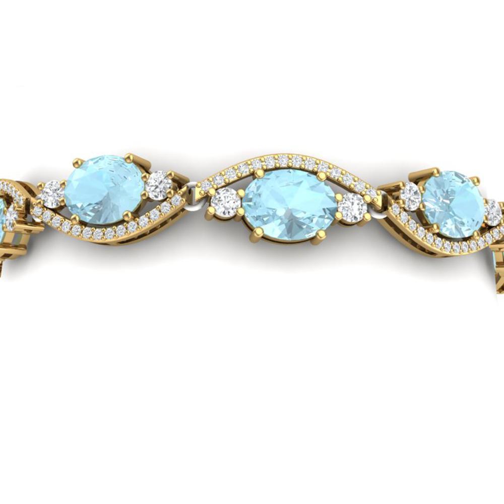 21.6 ctw Sky Topaz & VS Diamond Bracelet 18K Yellow Gold - REF-327K3Y