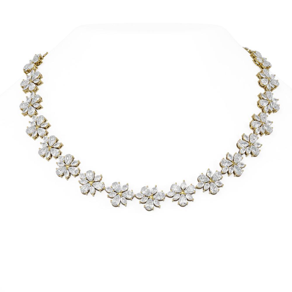 65 ctw Diamond Necklace 18K Yellow Gold - REF-11154W2H