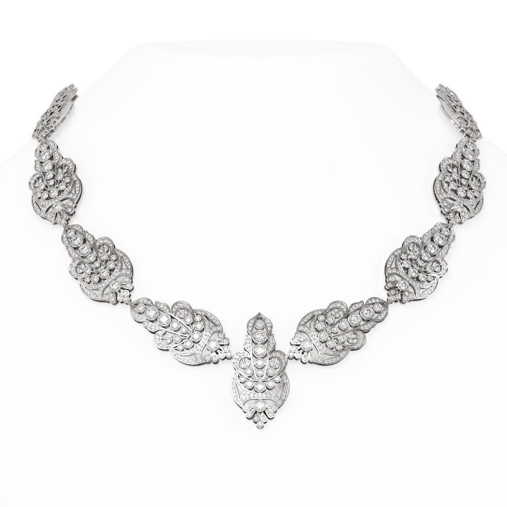 24 ctw Diamond Necklace 18K White Gold - REF-2282G5W