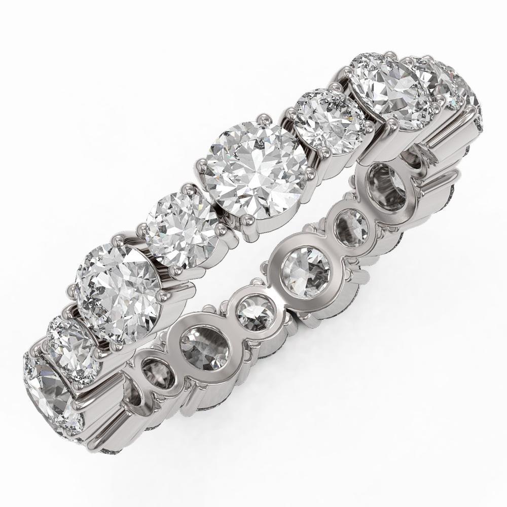 3.51 ctw Diamond Designer Eternity Ring 18K White Gold - REF-365Y8X