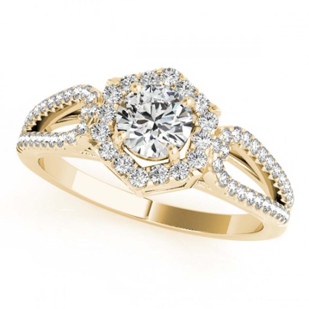 1.43 ctw VS/SI Diamond Halo Ring 18K Yellow Gold - REF-284R9K - SKU:26762