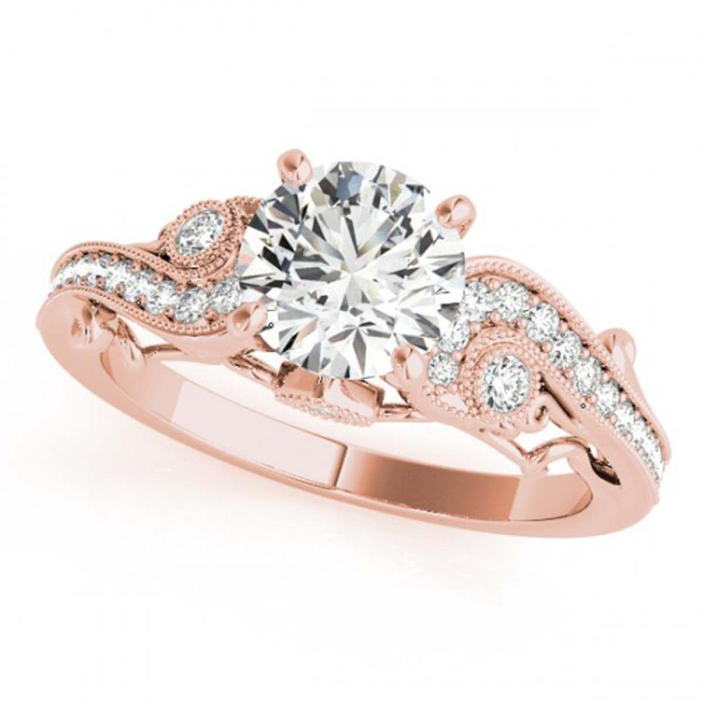 1.50 ctw VS/SI Diamond Ring 18K Rose Gold - REF-381X8R - SKU:27415