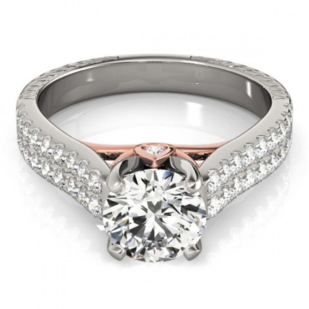 1.61 ctw VS/SI Diamond Ring 18K White & Rose Gold - REF-301F6N - SKU:28100