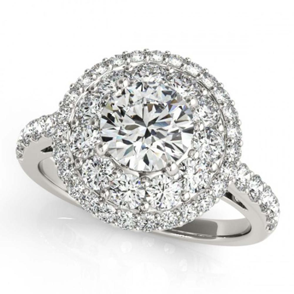 2.09 ctw VS/SI Diamond Halo Ring 18K White Gold - REF-333R2K - SKU:26494
