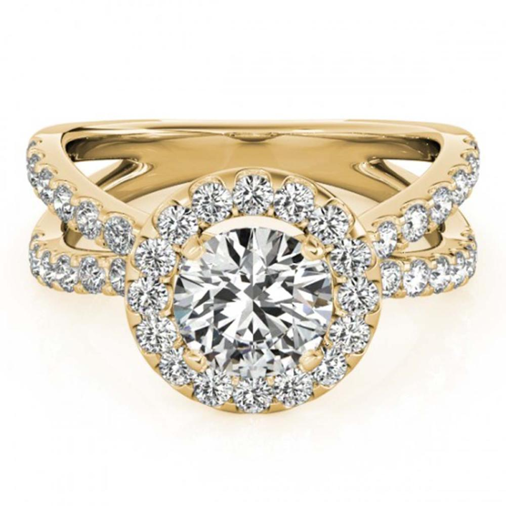 2.01 ctw VS/SI Diamond Halo Ring 18K Yellow Gold - REF-318R5K - SKU:26771