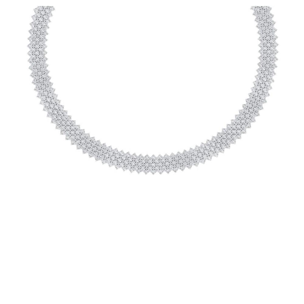 40 ctw VS/SI Diamond Necklace 18K White Gold - REF-2190X2R - SKU:40052