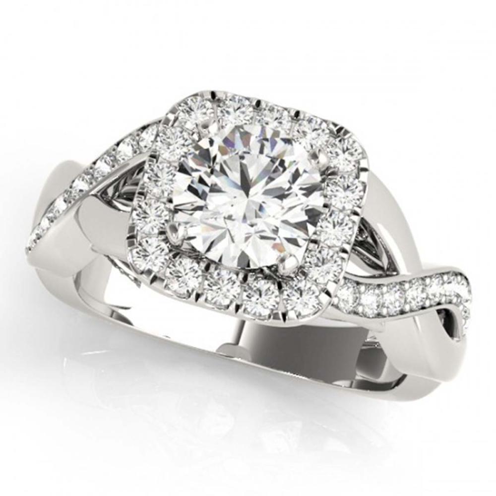 1.65 ctw VS/SI Diamond Halo Ring 18K White Gold - REF-306X7R - SKU:26191