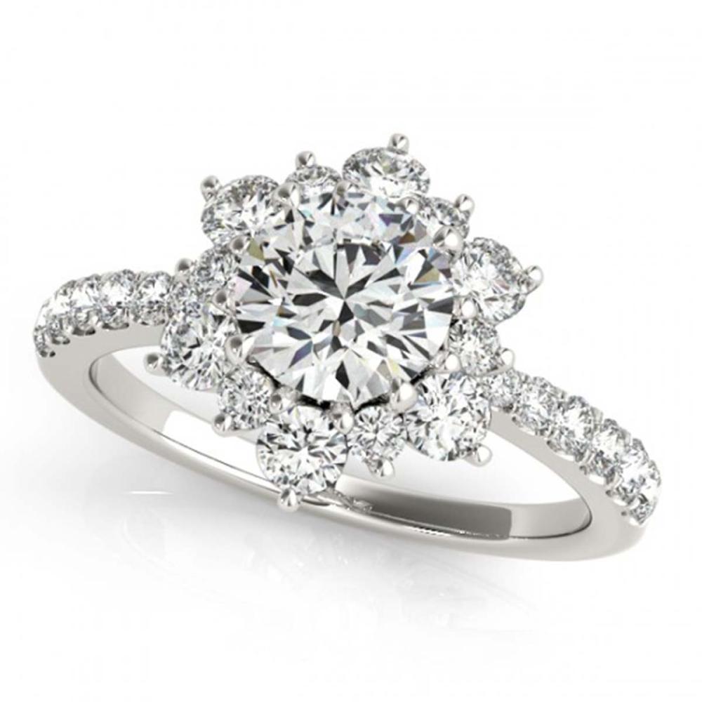 2 ctw VS/SI Diamond Halo Ring 18K White Gold - REF-320R5K - SKU:26503
