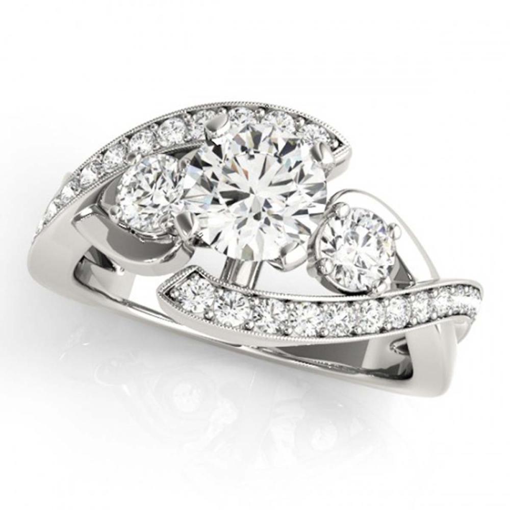 2.26 ctw VS/SI Diamond Bypass Ring 18K White Gold - REF-544X9R - SKU:27672