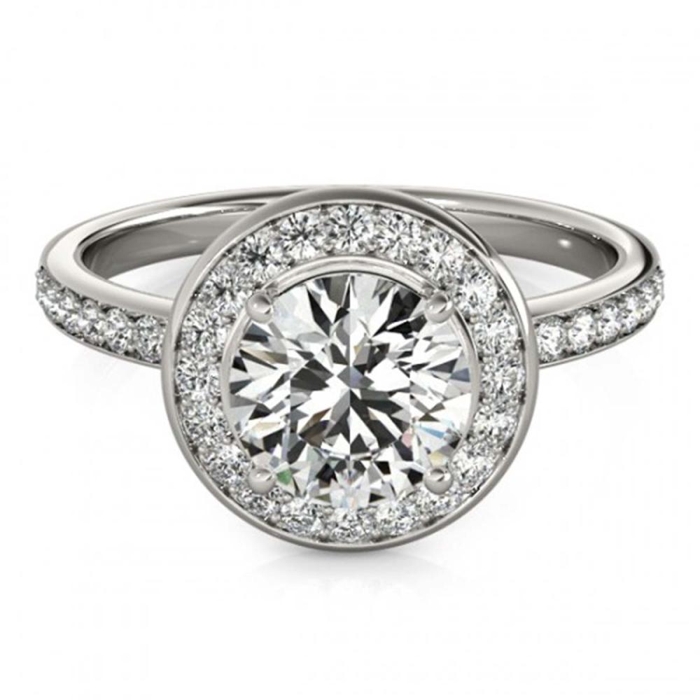 1.65 ctw VS/SI Diamond Halo Ring 18K White Gold - REF-432A5V - SKU:26988