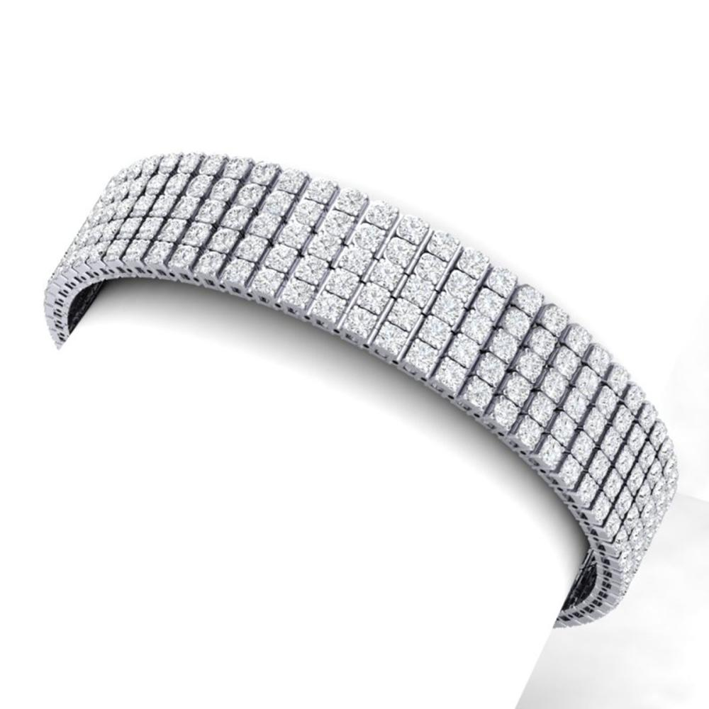 20 ctw VS/SI Diamond Bracelet 18K White Gold - REF-1170Y2X - SKU:39950