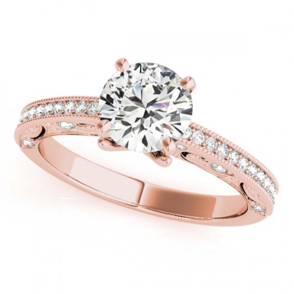0.75 ctw VS/SI Diamond Ring 18K Rose Gold - REF-97X4R - SKU:27373