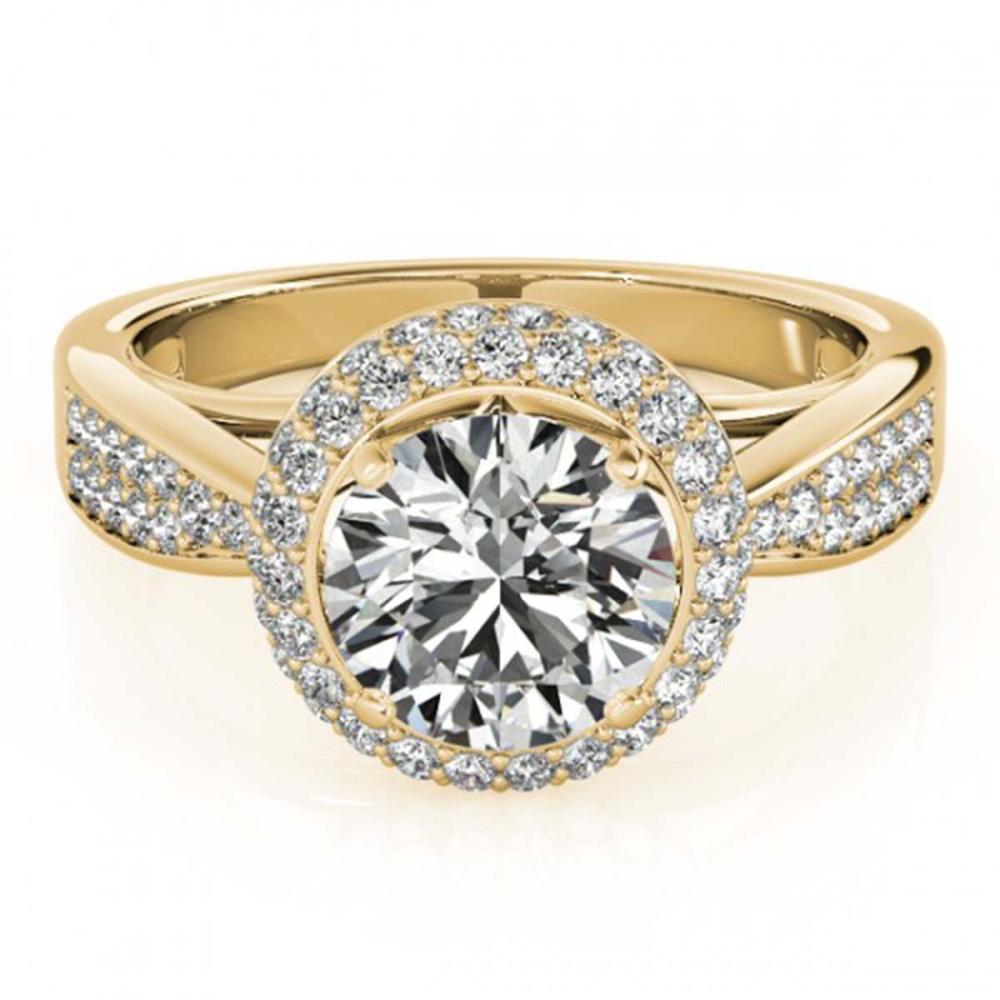 2.15 ctw VS/SI Diamond Halo Ring 18K Yellow Gold - REF-518V4Y - SKU:27011