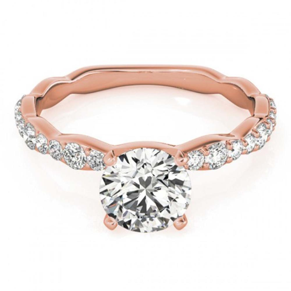 1.15 ctw VS/SI Diamond Ring 18K Rose Gold - REF-140X2R - SKU:27475