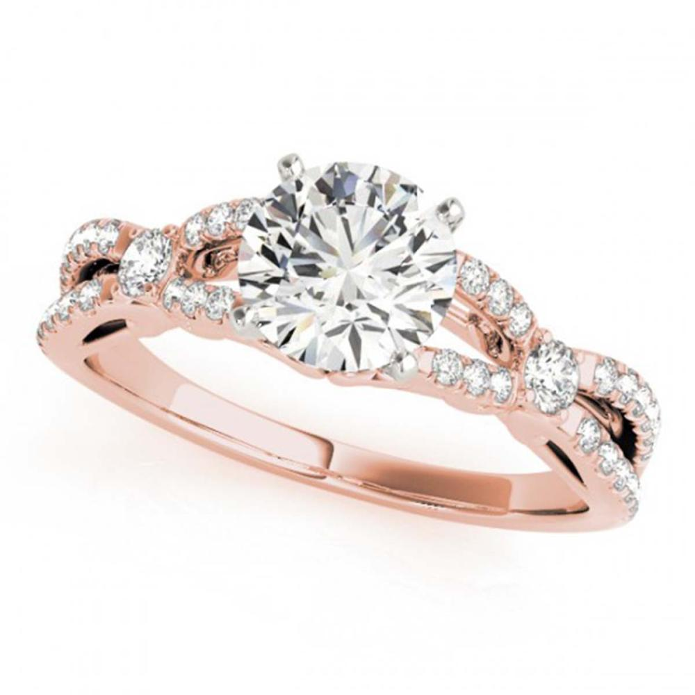1.35 ctw VS/SI Diamond Ring 18K Rose Gold - REF-282N2A - SKU:27841