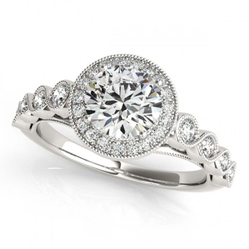 1.50 ctw VS/SI Diamond Halo Ring 18K White Gold - REF-299V6Y - SKU:26401