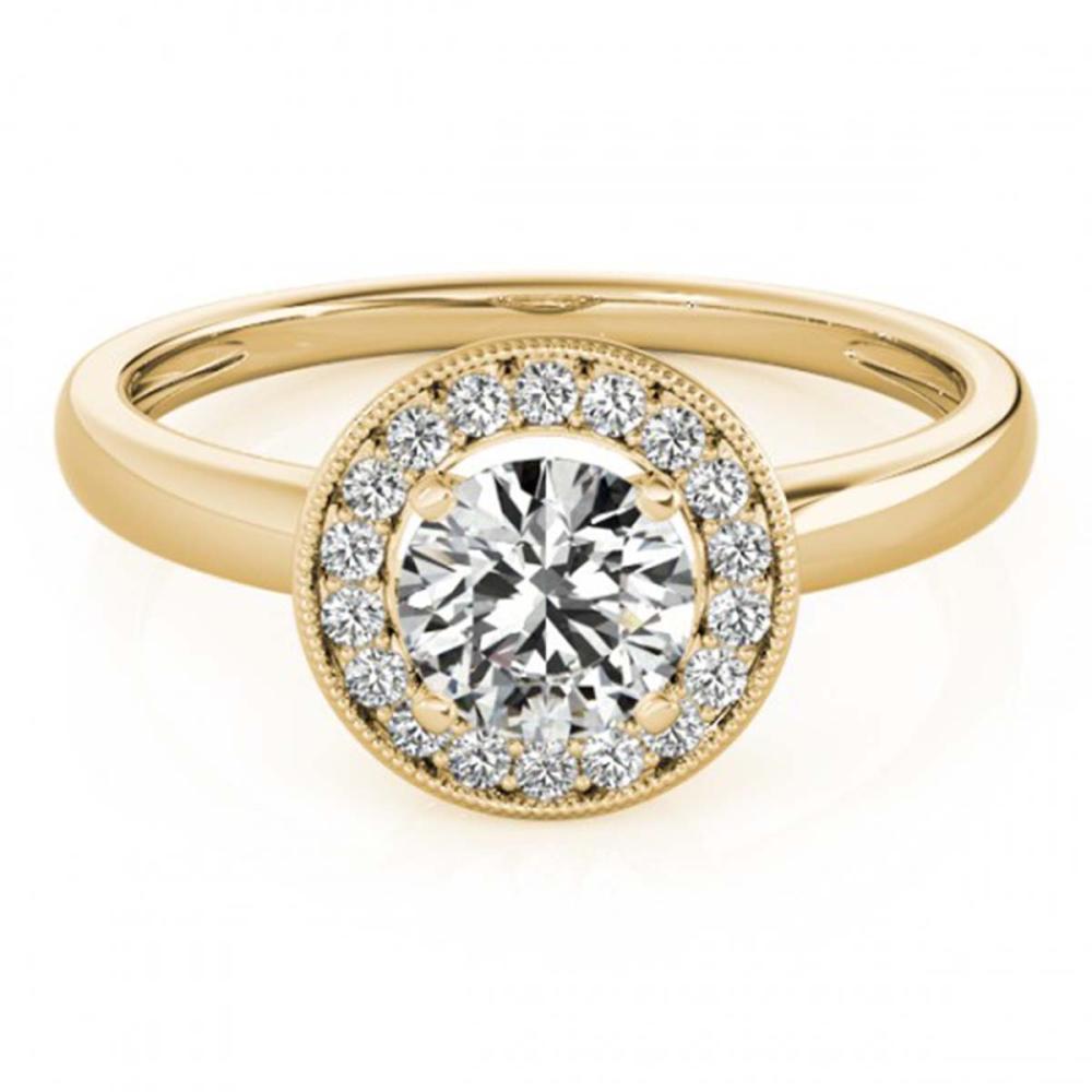 1.15 ctw VS/SI Diamond Halo Ring 18K Yellow Gold - REF-271M5F - SKU:26319